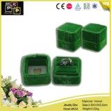 Kleiner hochwertiger populärer Samt-Ring-Großhandelskasten (8034)