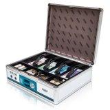 Caixa de caixa de alumínio para notas e moedas salvando e armazenamento