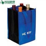 卸し売り安い非編まれた4本のびんのワイン袋(TP-WB072)