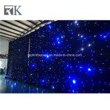 結婚式の装飾のための白い黒LEDの星のカーテン