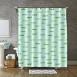 100% de tecido de poliéster / personalizados com Novo Design a cortina do chuveiro