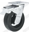 4 pouces de double roulement à billes de précision Heavy Duty Roulette industrielle de roue en caoutchouc