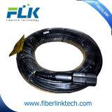 Cabo de correção de programa blindado ao ar livre impermeável de Pdlc-Dlc do conjunto de cabo ótico da fibra
