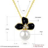 K Goud plateerde de Natuurlijke Juwelen van de Halsband van de Manier van de Vrouwen van de Tegenhanger van de Parel