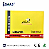 Bester Preis! 10.1 Zoll-videobroschüre für fördernde das Geschenk-Einladung/Bekanntmachen