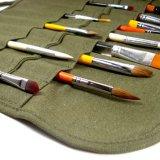 [هيغقوليتي] جيش اللون الأخضر نوع خيش قلم حقيبة فرشاة حقيبة مع 22 أنشوطة