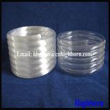 Heißer Verkaufs-milchiges weißes Spiring fixiertes Glasgefäß
