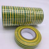 PVC 노란 줄무늬를 가진 전기 테이프 녹색은 고립시켰다