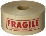 Avec l'emballage imprimé personnalisé Firberglass Ruban de papier Kraft adhésif renforcé de fibre de ruban de papier kraft