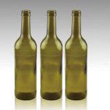 Frascos de vidro para o vinho vermelho/vinho da uva com bujão da cortiça, frascos de vidro do espírito do licor
