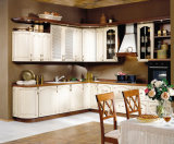 新しいデザイン島が付いている現代白い木の食器棚