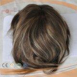 Toupee pieno del Mens dei capelli del Virgin del merletto (PPG-l-01501)