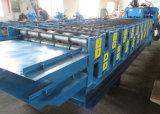 Strato personalizzato del tetto di doppio strato e rullo delle mattonelle di tetto che forma macchina
