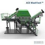 Película de tierra del exprimidor del PE que recicla Line/PE que se lava que cubre con pajote la lavadora de la película