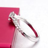바게트 단계 커트 Moissanite 다이아몬드 Jennie 악대 925 순은 반지