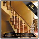 Lujo interior bronce aluminio barandillas para escaleras