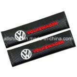 Le carbone de ceinture de sécurité de véhicule couvre des garnitures d'épaule pour Volkswagen