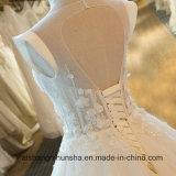 Neue Ankunfts-Tulle-Hochzeits-Kleid-Prinzessin Bride Gowns Cap Sleeve