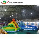 スライドが付いている巨大で膨脹可能なプール水公園、屋外の娯楽水公園