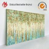 高品質の抽象的な木のキャンバスの壁の芸術の油絵(LH-M170807)