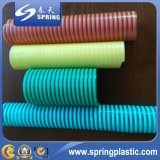 Tubulação de mangueira plástica flexível colorida da sução do PVC