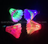OEM Venta caliente noche deporte LED multicolor Shuttlecock Badminton