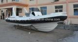 Liya Hypalon Rib bateau 24,6 pieds bateau gonflable rigide Hypalon