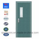 熱い火のガラスドアの鋼鉄防火扉の青カラー