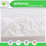 Cubierta de colchón impermeable respirable silenciosa de la tela polivinílica del Knit