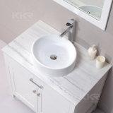 Steinharz-feste runde Form-Behälter-Badezimmer-Oberflächenwanne