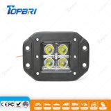 10-30V 12W Montaje Empotrado LED automático de luces de conducción de trabajo