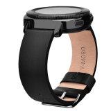 20mm Correa Pulsera de cuero más suave para Samsung de la banda de marcha Deportes Smartwatch