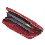 Borsa nera di cucitura della signora Wallet Red signora Purse di modo della borsa