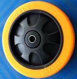 Roue rigide de chasse d'unité centrale d'orange à usage moyen de 3/4/5 pouce