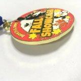 La coutume de l'automne vitrine souvenir Médaille de football en métal avec ruban