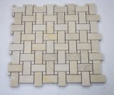 Home Decoration Marble Basketweave Stone Beige Swimming Pool Mosaic for Wall Basts