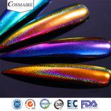 Holo Colorshift rispecchia la polvere dei chiodi di effetto dei pavoni