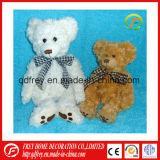 Ours en peluche blanc avec l'Écharpe de Noël