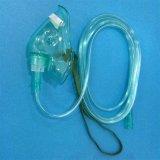 Máscara de oxígeno no reutilizable médica del PVC del buen hospital portable del precio de la alta calidad con la válvula