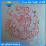 Titular del Certificado de cuero de imitación personalizado con logotipo de la estampación