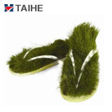 Модный EVA ПОДОШВА ПВХ Новинка зеленой траве Шлепанцы опорной части юбки поршня