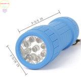 Mini Flash 9-6-Pack linterna LED linterna de bolsillo impacto colores surtidos con cordón de 3 pila AAA incluidas para camping, senderismo, caza, de emergencia