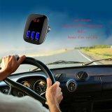 Trasmettitore Handsfree senza fili dell'adattatore FM del kit dell'automobile di Bluetooth per le porte del USB del giocatore di MP3 di chiamata tre per i cellulari