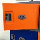 体操または学校のための21inchカラー個々のABSプラスチック電子ロッカー