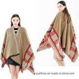 Les foulards nouvelles femmes hiver Ponchos Capes châle épais une impression de qualité pour les dames Pashmina Blanket Coat chaud