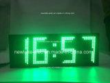 IP65 Outdoor LED de grande taille Affichage de la température de l'horloge (vert)