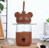Wenig Bären-Glasflaschen-Raum-Glasflasche hitzebeständig
