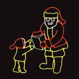 Neues Entwurfs-Weihnachtsstraßen-Pole-Motiv-Licht mit Sankt beleuchteter Dekoration
