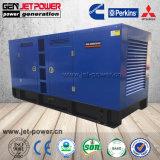 パーキンズエンジンの無声水によって冷却されるディーゼル発電機160kw 200kVA Denyoの発電機