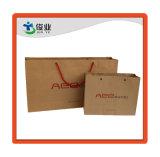 Una impresión personalizada bolsa de papel reciclado de papel Kraft marrón Bolsa de compras